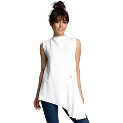Abbigliamento Donna Top / Blusa Be B069 Top asimmetrico senza maniche - ecru