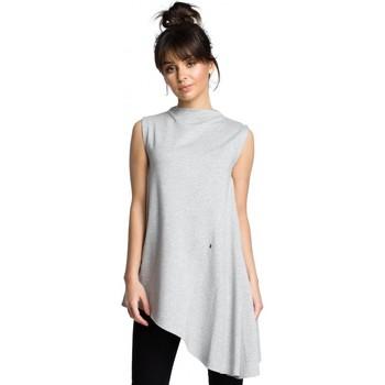 Abbigliamento Donna Top / Blusa Be B069 Top asimmetrico senza maniche - grigio