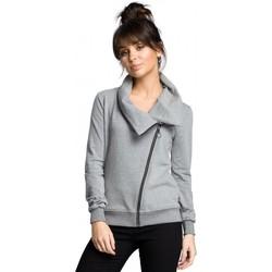 Abbigliamento Donna Felpe Be B071 Felpa con zip - grigio