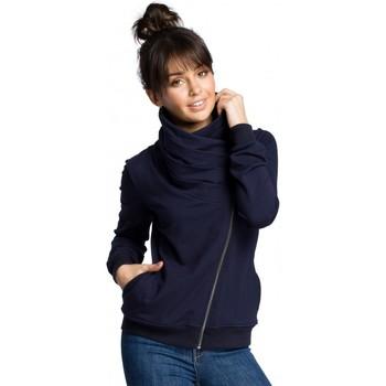 Abbigliamento Donna Felpe Be B071 Felpa con zip - blu navy