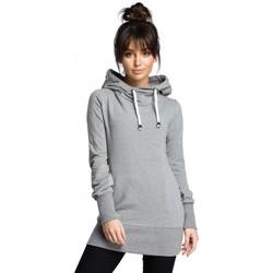 Abbigliamento Donna Felpe Be B072 Pullover lungo - grigio