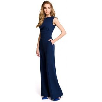 Abbigliamento Donna Tuta jumpsuit / Salopette Style S115 Tuta a gamba larga - blu navy
