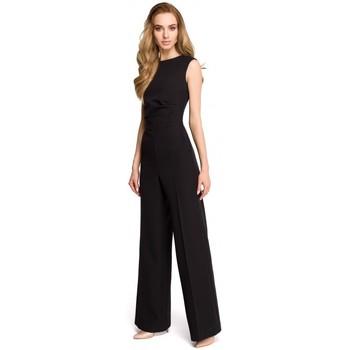Abbigliamento Donna Tuta jumpsuit / Salopette Style S115 Tuta a gamba larga - nero