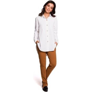 Abbigliamento Donna Camicie Be B122 Camicia con colletto - bianco
