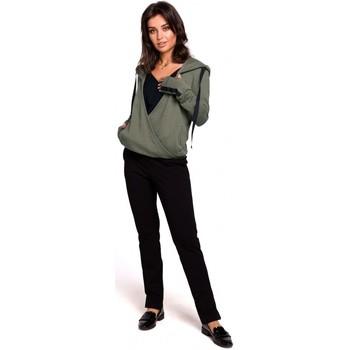 Abbigliamento Donna Felpe Be B127 Pullover con cappuccio - cachi