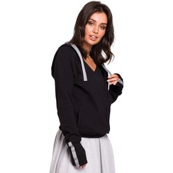 Abbigliamento Donna Felpe Be B127 Pullover con cappuccio - nero