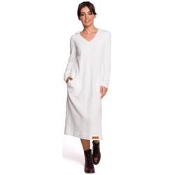 Abbigliamento Donna Abiti lunghi Be B128 Maxi abito con cappuccio - ecru