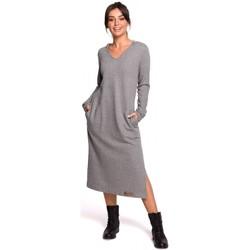 Abbigliamento Donna Abiti lunghi Be B128 Maxi abito con cappuccio - grigio