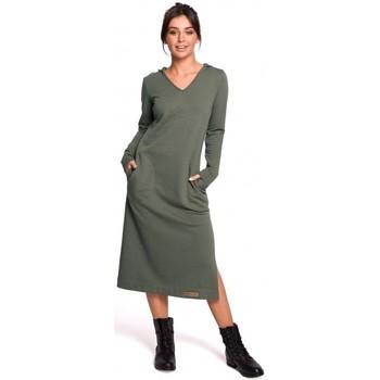 Abbigliamento Donna Abiti lunghi Be B128 Maxi abito con cappuccio - cachi