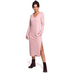 Abbigliamento Donna Abiti lunghi Be B128 Maxi abito con cappuccio - polvere