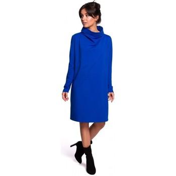Abbigliamento Donna Abiti corti Be B132 Abito con collo alto - blu reale