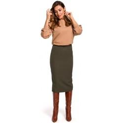 Abbigliamento Donna Gonne Style S171 Gonna a tubino a vita alta - cachi
