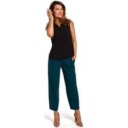 Abbigliamento Donna Top / Blusa Style S172 Camicia senza maniche - nero