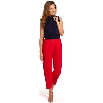 Abbigliamento Donna Top / Blusa Style S172 - camicia senza maniche - blu navy