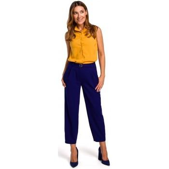 Abbigliamento Donna Top / Blusa Style S172 Camicia senza maniche - giallo