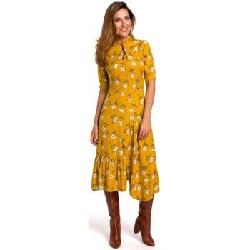 Abbigliamento Donna Abiti lunghi Style S177 Abito midi con stampa floreale - modello 1