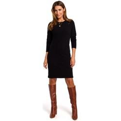 Abbigliamento Donna Abiti corti Style S178 Vestito di maglia a maniche lunghe - nero