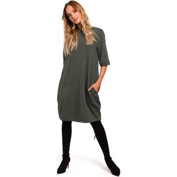 Abbigliamento Donna Abiti corti Moe M451 Vestito con fondo legato - verde militare