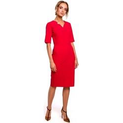 Abbigliamento Donna Vestiti Moe M455 abito con scollo a V - rosso