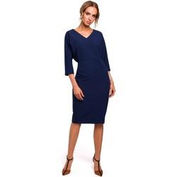 Abbigliamento Donna Abiti corti Moe M464 Vestito con manica a pipistrello - blu navy