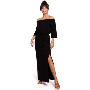 Abbigliamento Donna Vestiti Be B146 Maxi abito off- shoulder - nero