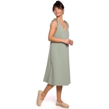 Abbigliamento Donna Vestiti Be B148 Abito a trapezio con cinturino - pistacchio