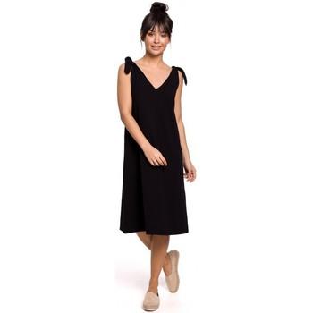 Abbigliamento Donna Abiti corti Be B148 Abito a trapezio con cinturino - nero