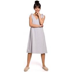 Abbigliamento Donna Abiti corti Be B148 Abito a trapezio con cinturino - grigio