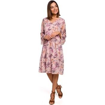 Abbigliamento Donna Abiti corti Style S214 Abito in chiffon con vita a goccia - modello 2