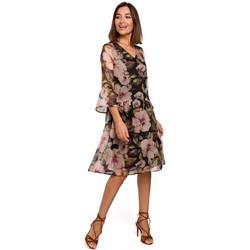 Abbigliamento Donna Abiti corti Style S214 Abito in chiffon con vita a goccia - modello 3