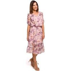Abbigliamento Donna Vestiti Style S215 Abito in chiffon con orlo increspato - modello 2