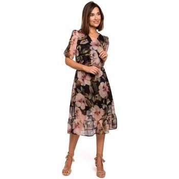 Abbigliamento Donna Vestiti Style S215 Abito in chiffon con orlo increspato - modello 3