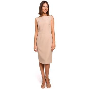 Abbigliamento Donna Vestiti Style S216 Abito a matita senza maniche - beige