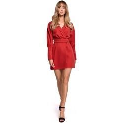 Abbigliamento Donna Abiti corti Moe M501 Mini abito con maniche a sbuffo - rosso