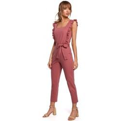 Abbigliamento Donna Tuta jumpsuit / Salopette Moe M507 Tuta con volant - blu navy