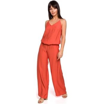 Abbigliamento Donna Tuta jumpsuit / Salopette Be B155 Tuta a gamba larga - arancione