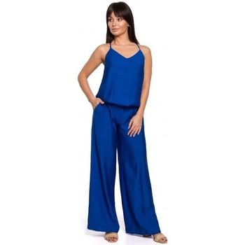 Abbigliamento Donna Tuta jumpsuit / Salopette Be B155 Tuta a gamba larga - blu reale