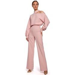 Abbigliamento Donna Tuta jumpsuit / Salopette Moe M528 Tuta con maniche a vescovo - polvere