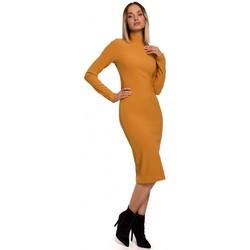 Abbigliamento Donna Abiti lunghi Moe M542 Abito a collo alto in maglia - verde