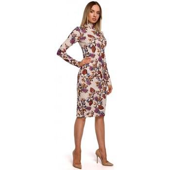 Abbigliamento Donna Abiti lunghi Moe M543 Abito con stampa e dolcevita - modello 3
