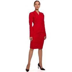 Abbigliamento Donna Abiti corti Moe M547 Travestimento con arricciatura sul davanti - rosso