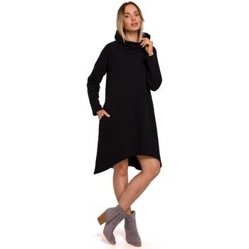Abbigliamento Donna Abiti corti Moe M551 Abito in maglia con orlo asimmetrico - nero