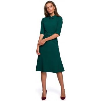 Abbigliamento Donna Abiti corti Style S231 Collo dres con cintura con fibbia - verde