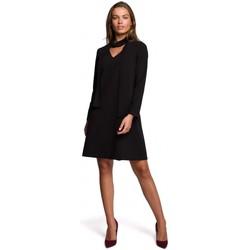 Abbigliamento Donna Abiti corti Style S233 Vestito con sciarpa di chiffon - nero