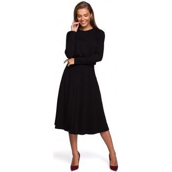 Abbigliamento Donna Abiti lunghi Style S234 - Vestito aderente e svasato - nero