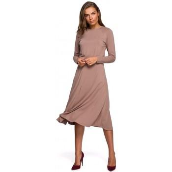 Abbigliamento Donna Abiti lunghi Style S234 Abito aderente e svasato - cappuccino
