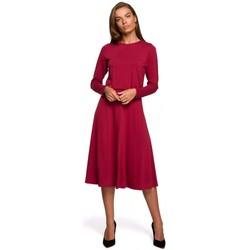 Abbigliamento Donna Abiti lunghi Style S234 Vestito aderente e svasato - ciliegia