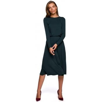 Abbigliamento Donna Abiti lunghi Style S234 - Vestito aderente e svasato - verde scuro