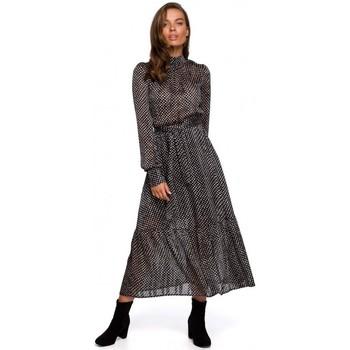 Abbigliamento Donna Abiti lunghi Style S238 Sukienka midi szyfonowa w groszki - modello 2
