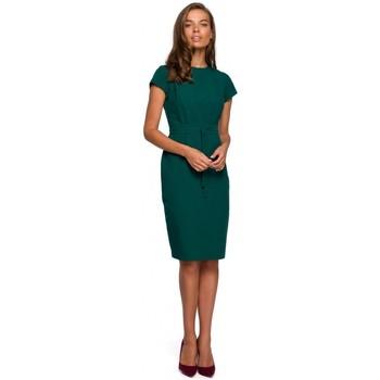 Abbigliamento Donna Abiti corti Style S239 Abito a matita con cintura a cravatta - blu navy